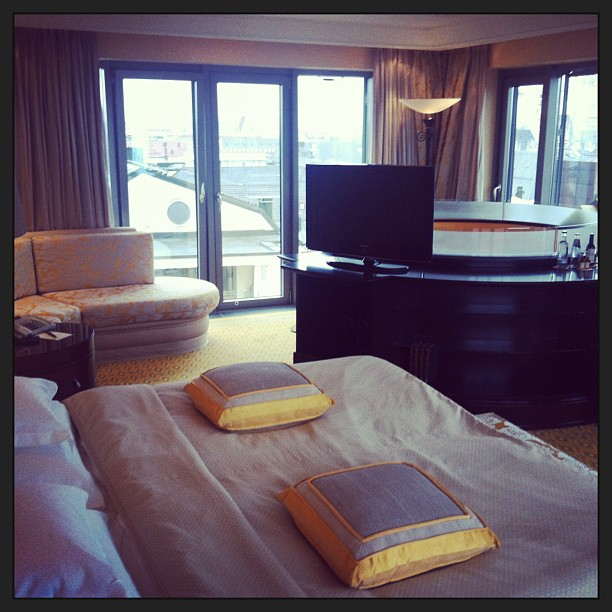 One of the suite bedrooms with amazing views of Munich
