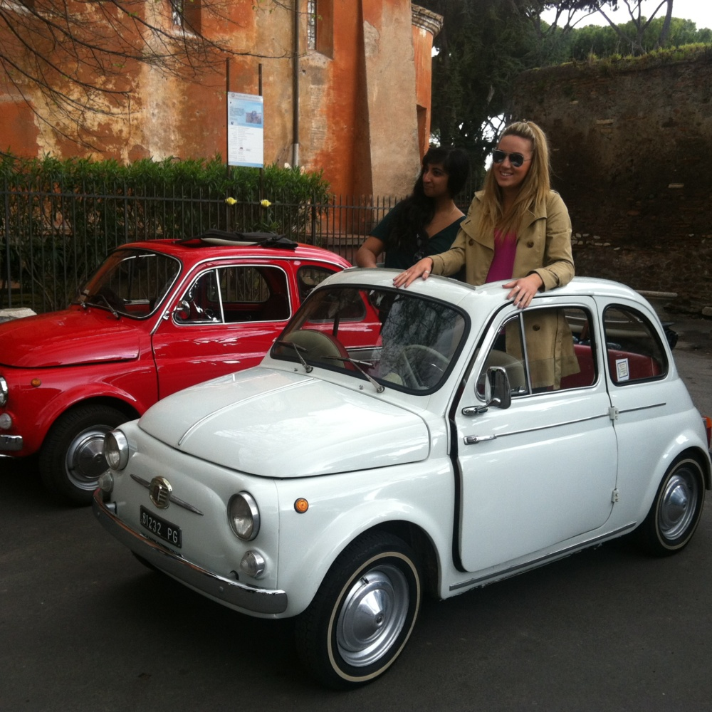 Exploring Rome in a Vintage Fiat 500