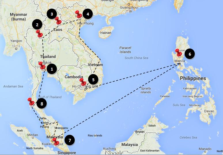 A South-East Asia Adventure – Pre Departure Plans