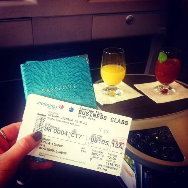 Experiencing Malaysia Airlines Business Class