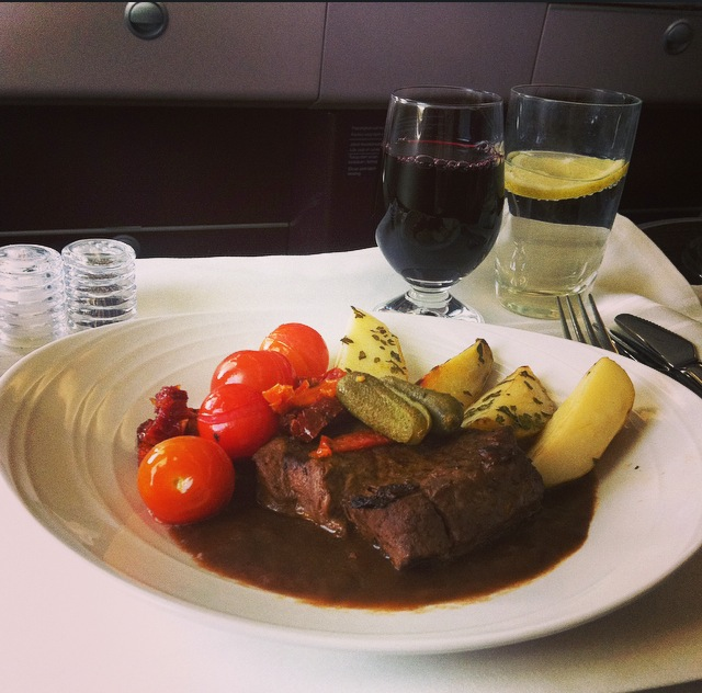 I chose to have slow-cooked beef and veggies accompanied with a glass of French red wine for my 'Chef on Call' experience.