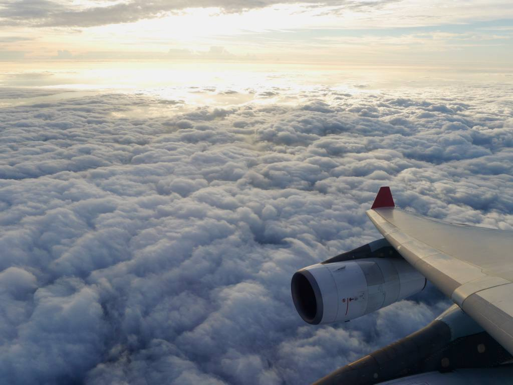 flight-sky-clouds-airplane