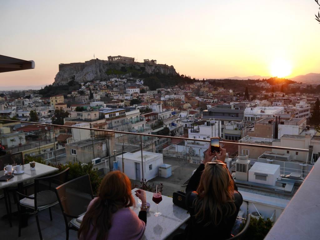 electra-metropolis-rooftop-sunset-athens