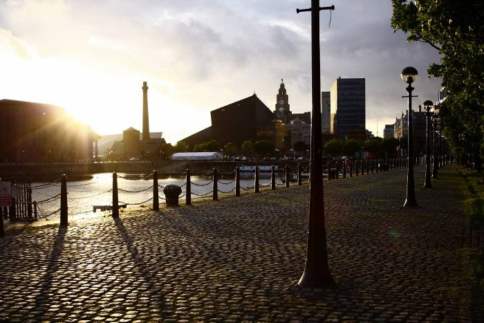 a-locals-guide-to-liverpool-travel-blog-the-travelista-Liverpool Docks at Sunset