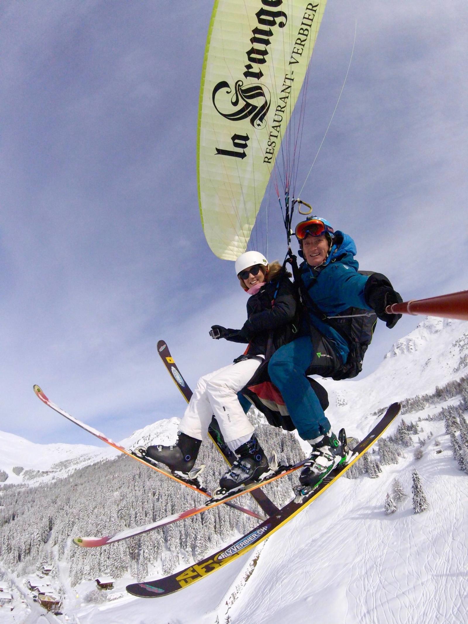 Paragliding in Verbier, Switzerland