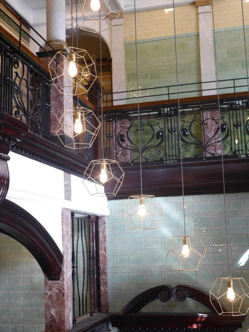 Roomzzz Manchester Corn Exchange Interior and Stairway