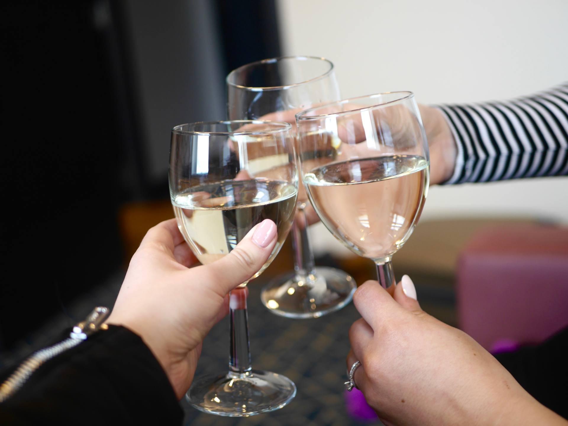 wine glasses toast cheers