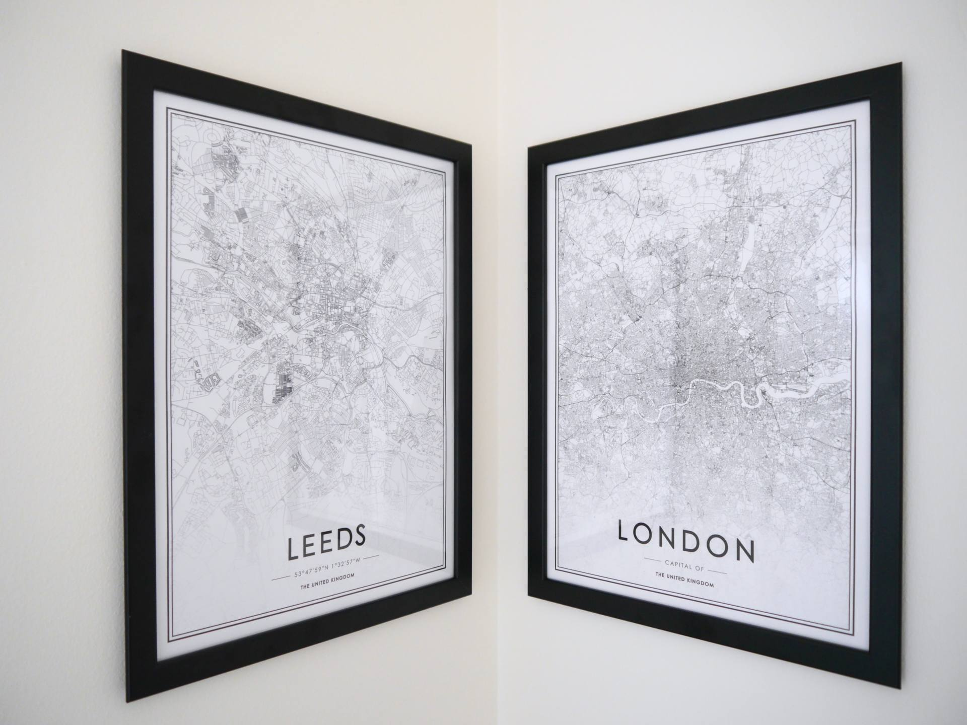 Add Personality To Your New Home - Leeds and London Map Posters