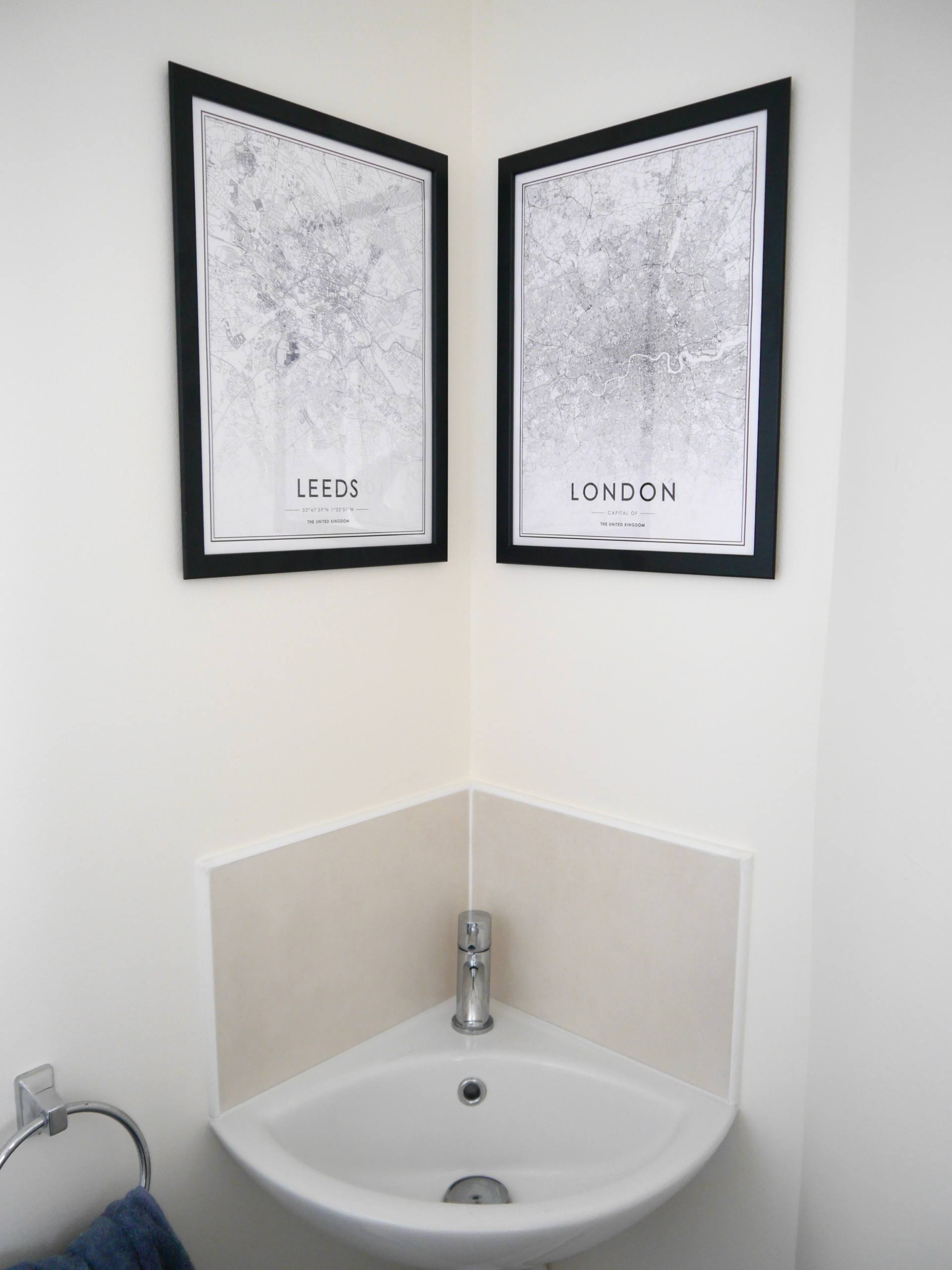 Leeds and London Framed Map Posters from Desenio