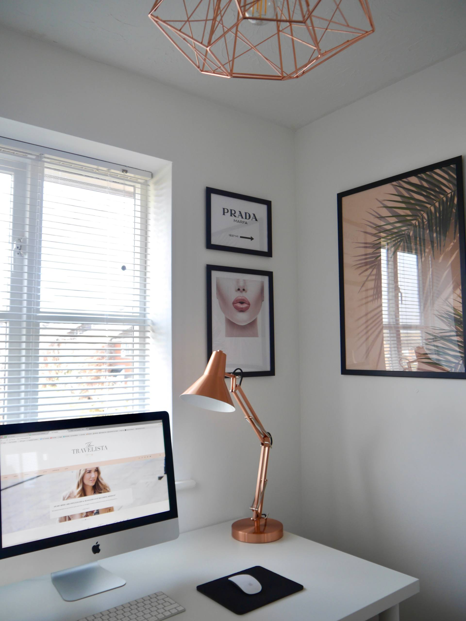 Blogger Home Office Desenio Gallery Wall