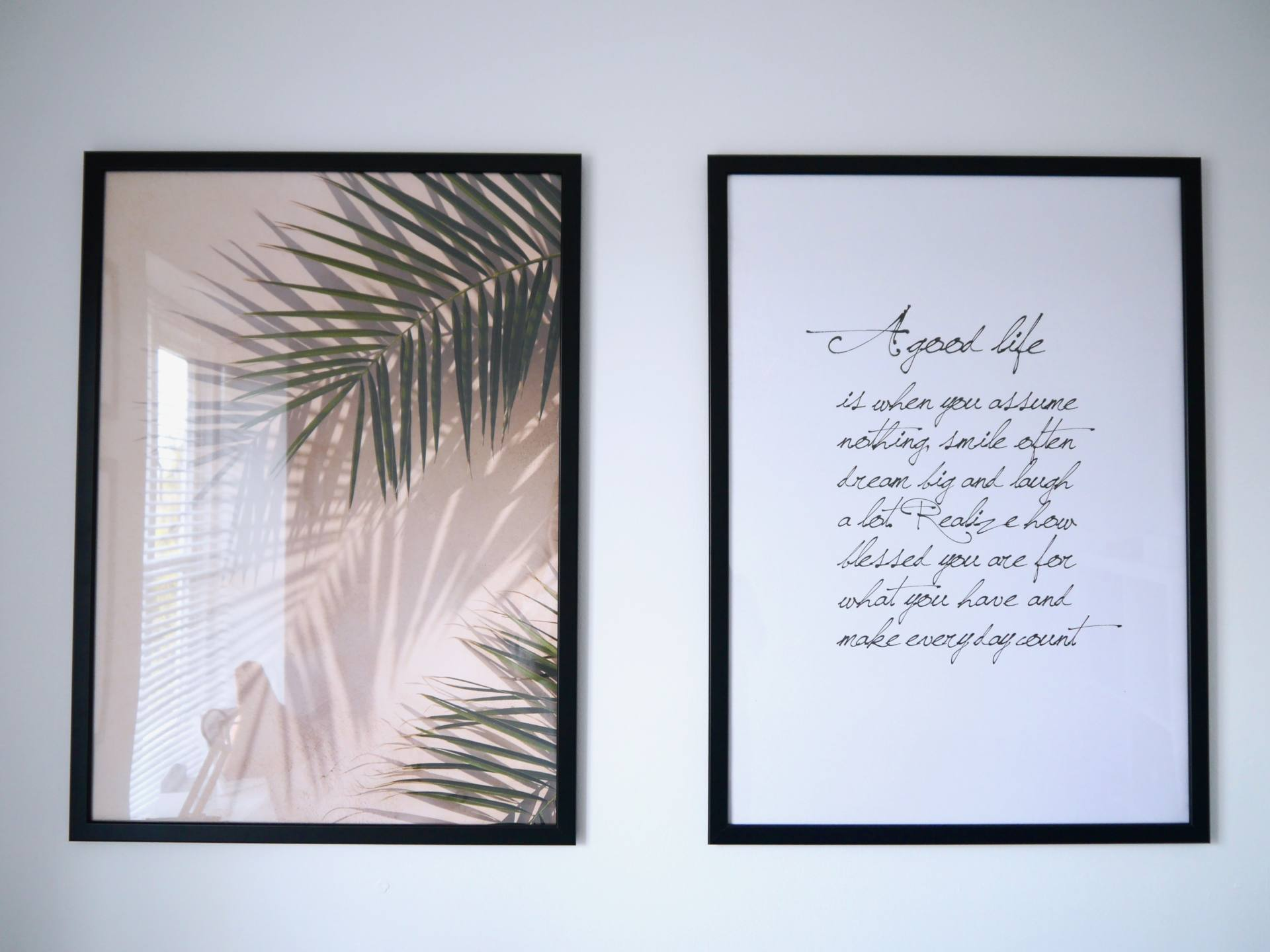 Add Personality To Your New Home with Desenio Framed Posters