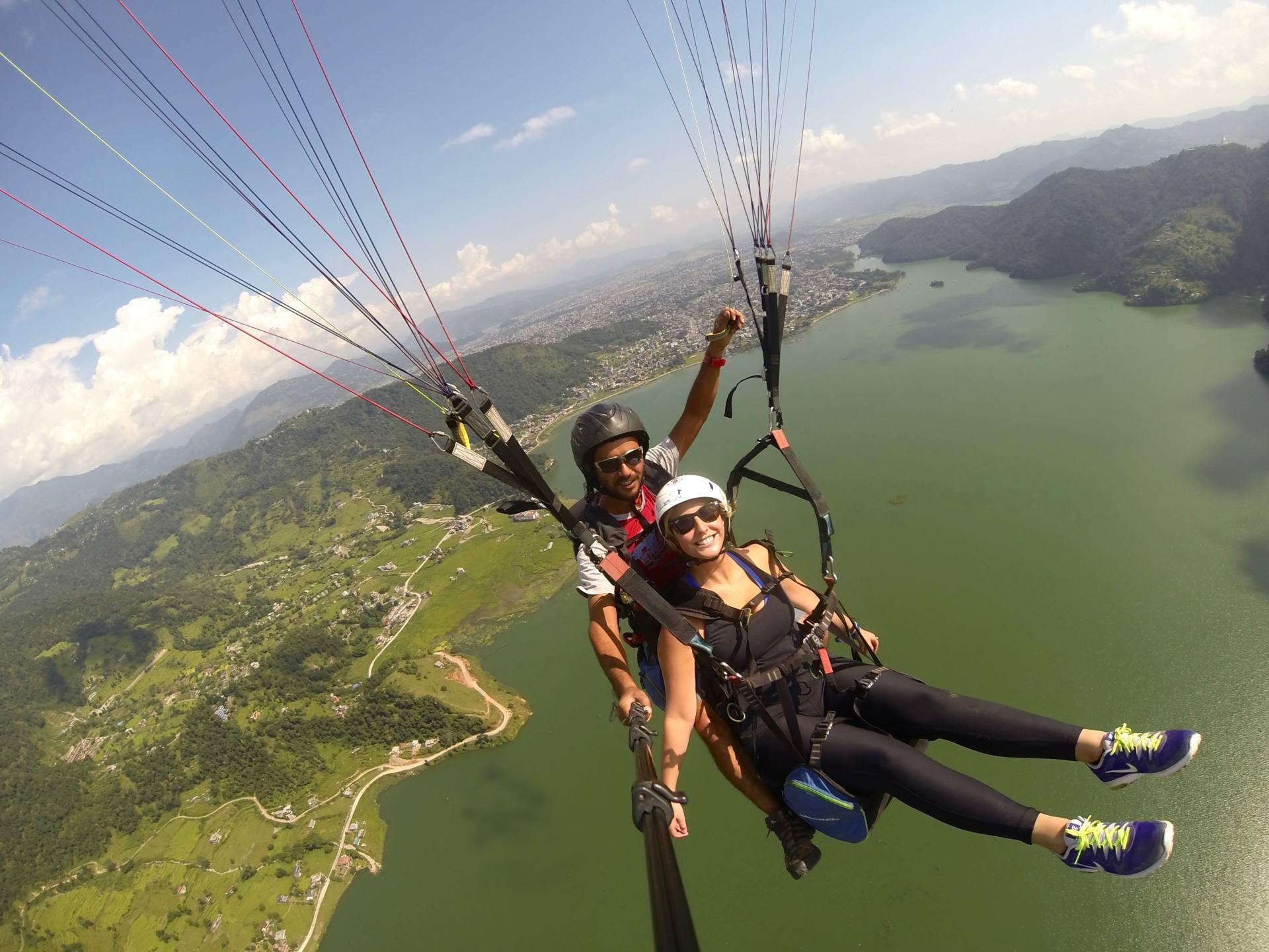 Paragliding in Sarangkot - 2 week Nepal Itinerary