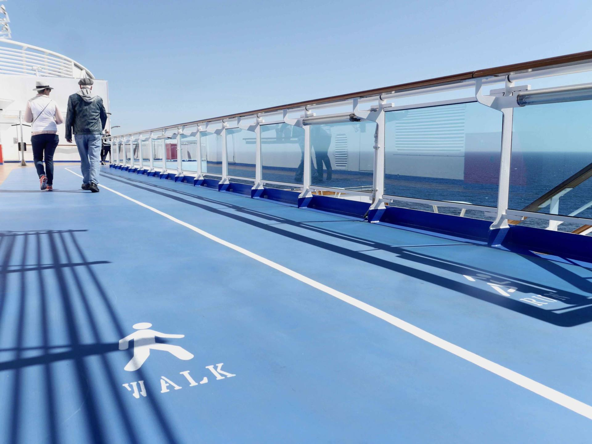 Regal Princess Cruise Ship - Top Deck Running Track
