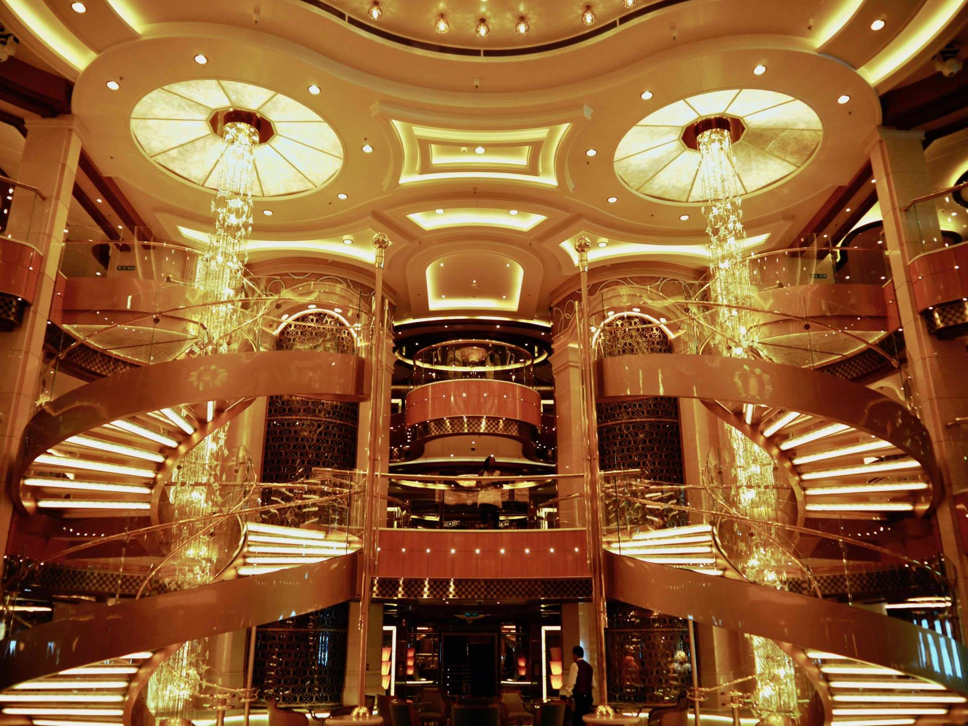 Regal Princess Cruise Ship - The Atrium