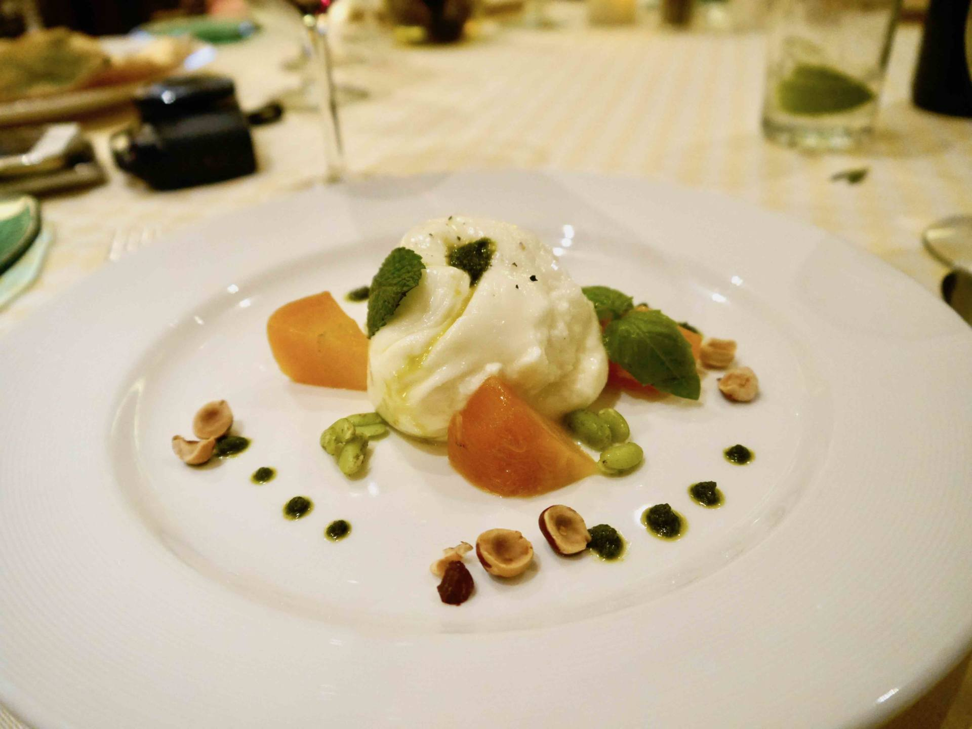 Regal Princess Cruise Ship - Sabatinis Italian Restaurant Burrata