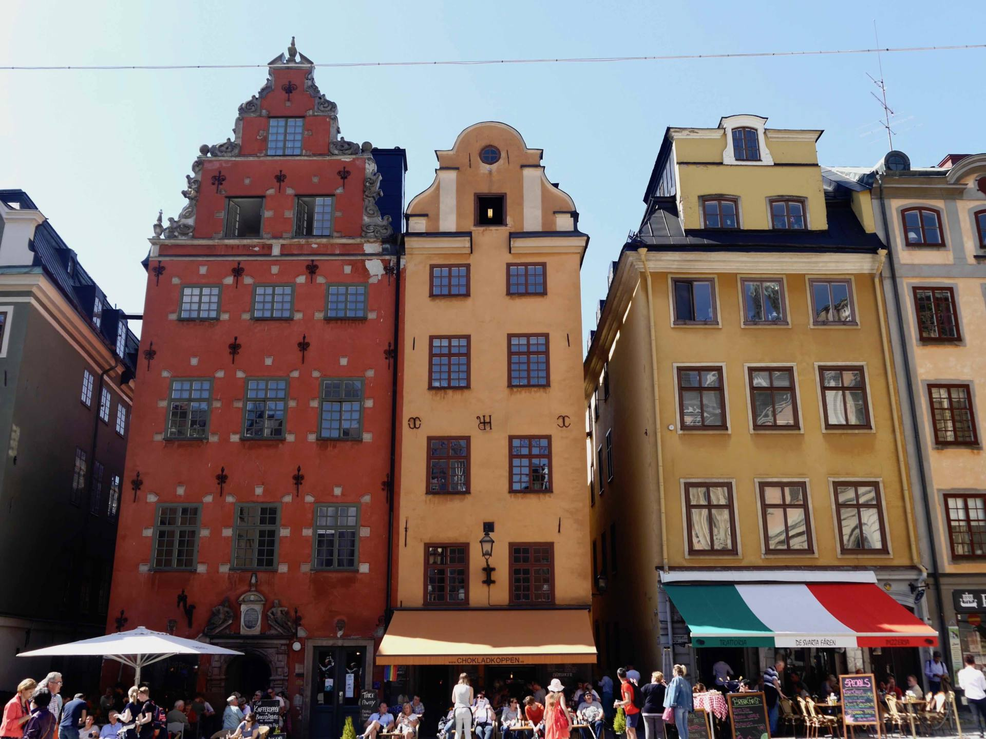Gamla Stan Colourful Buildings Stockholm