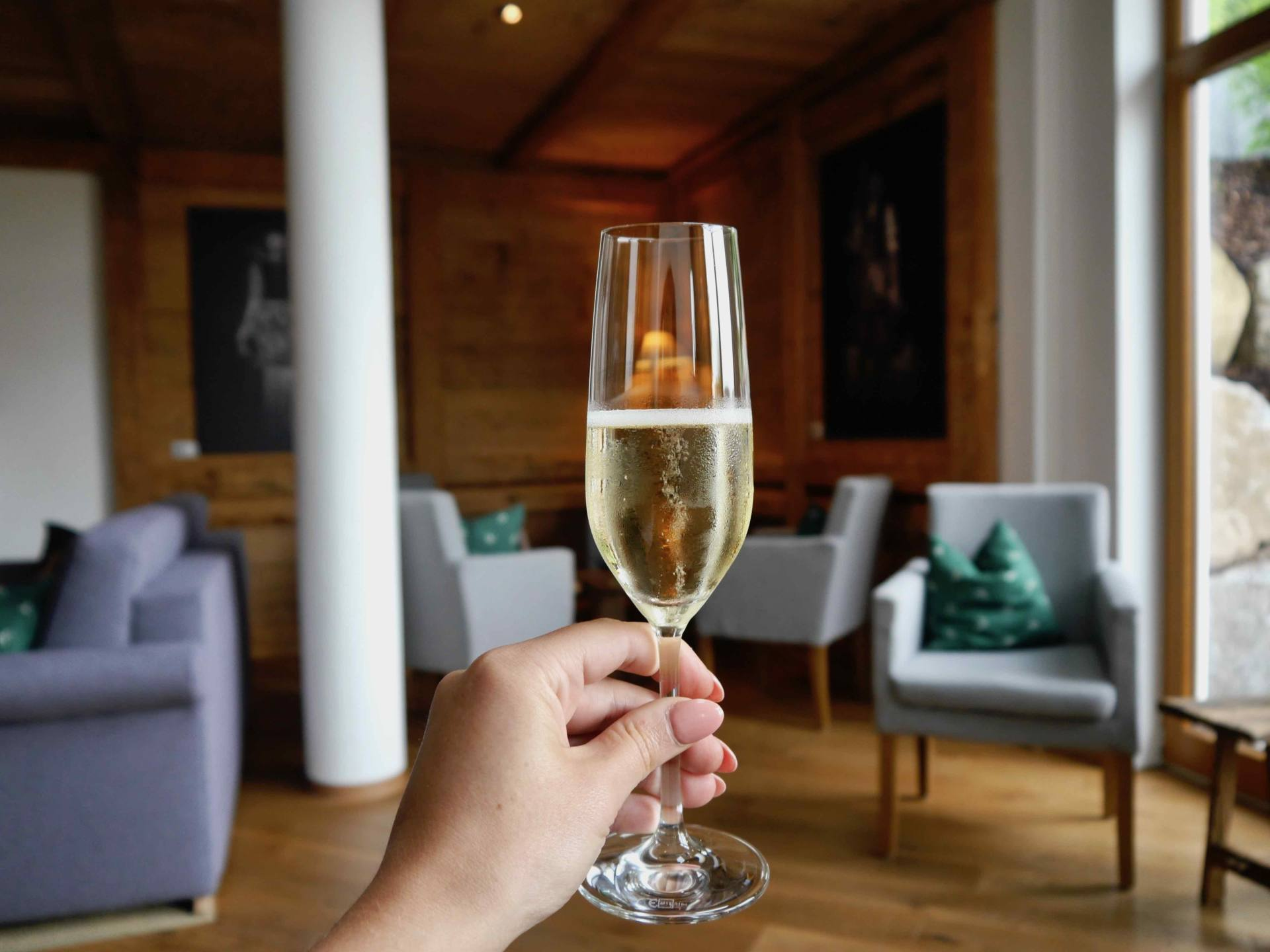 Champagne at Hotel Schlehdorn Feldsee, Germany | Black Forest Itinerary
