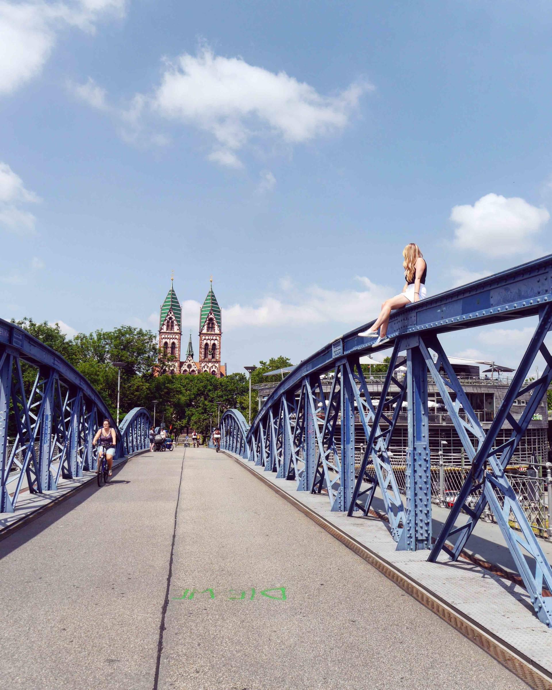 Blue Bridge | Most Instagrammable Places in Freiburg | The Travelista
