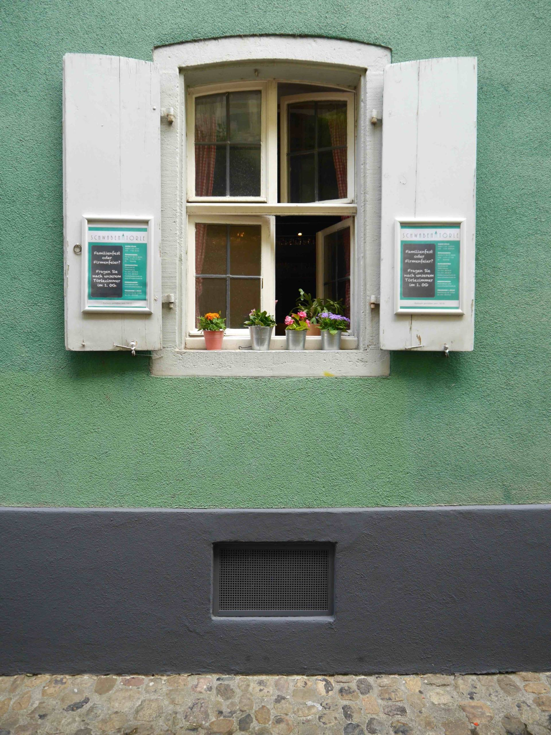 Green Wall with White Shutters | Most Instagrammable Places in Freiburg