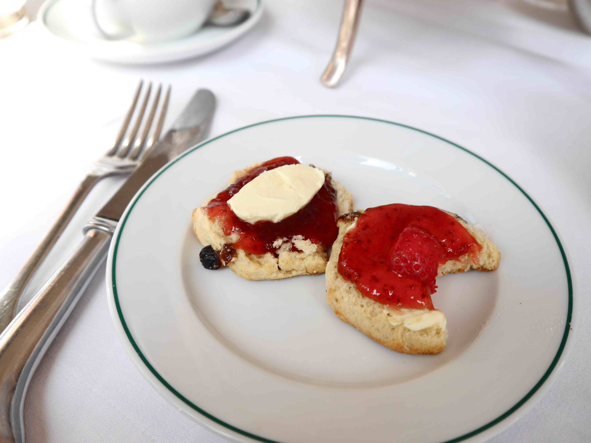 Scone at Afternoon tea at The Ivy St Helens Square, York