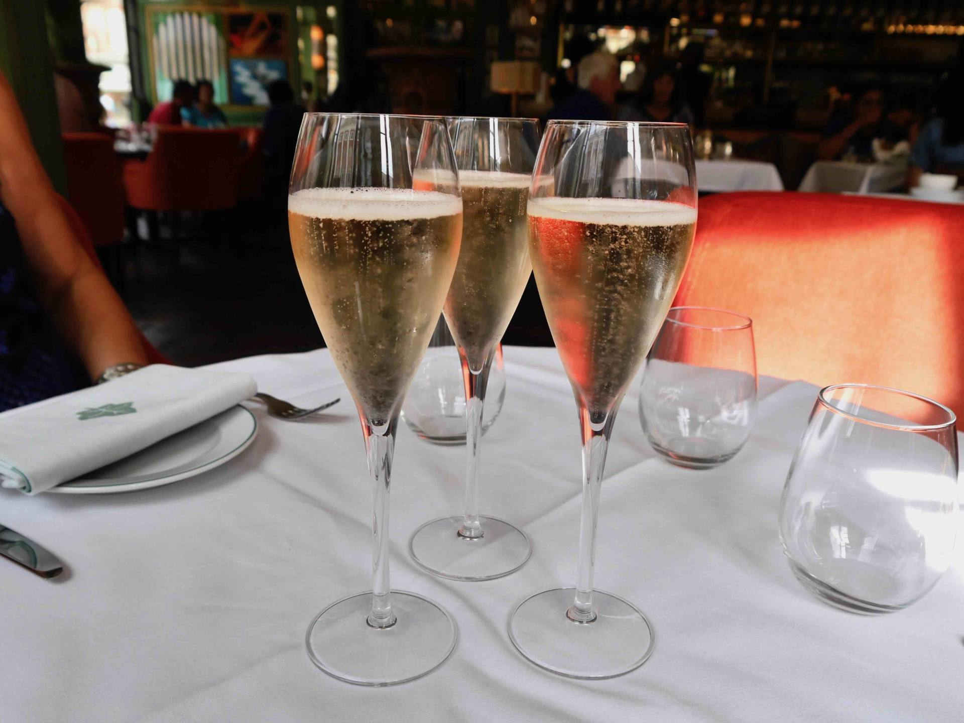 Champagne flutes | Afternoon tea at The Ivy St Helens Square, York