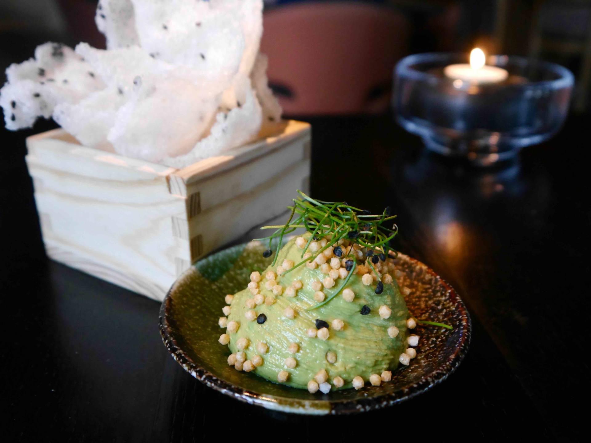 Pea Guacamole | Issho Restaurant Leeds | Best Sushi in Leeds