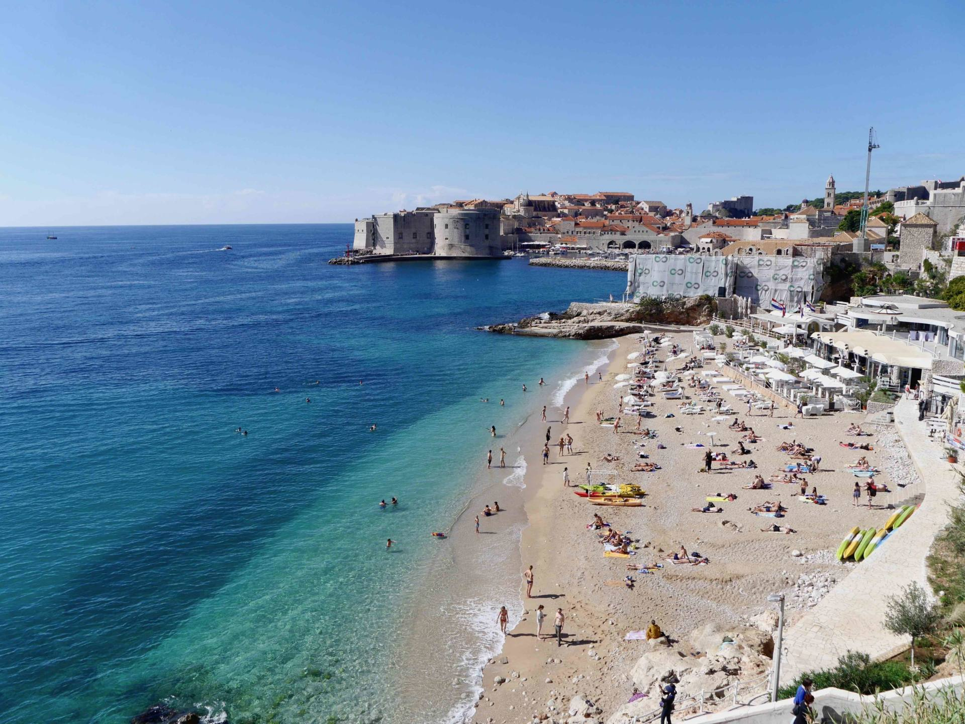 Banje Beach | Babymoon in Dubrovnik