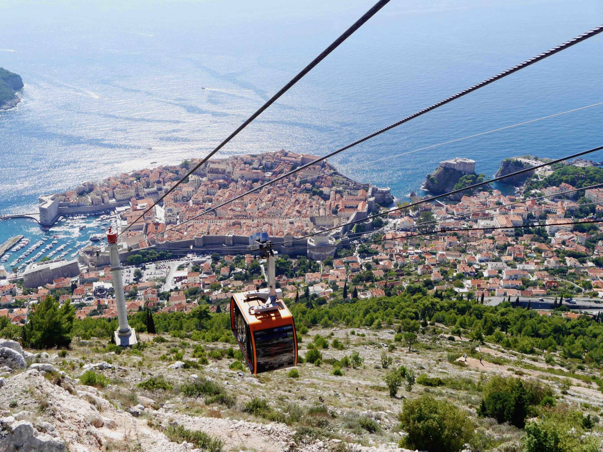 Cable Car Views in Dubrovnik