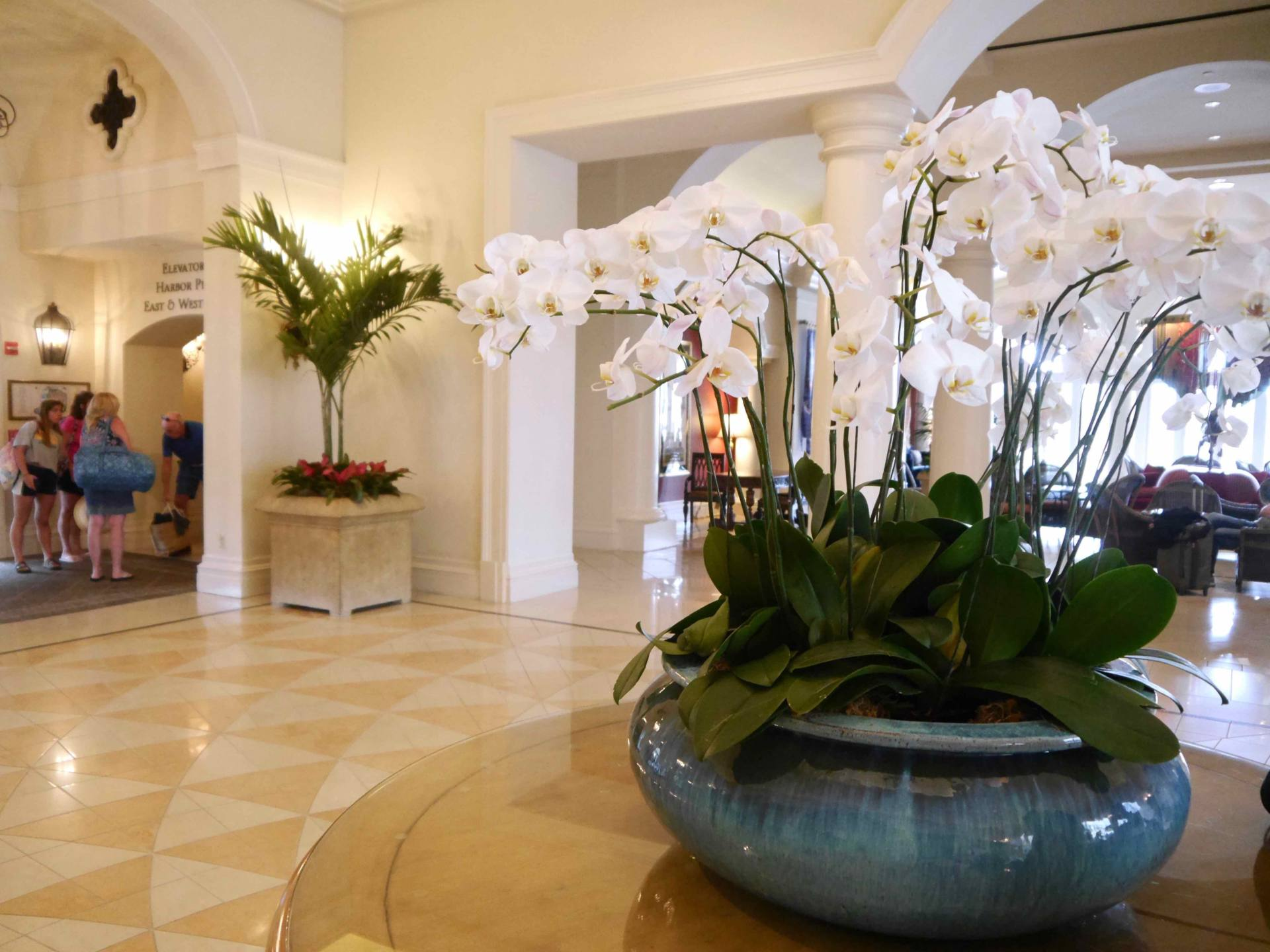 Loews Portofino Bay Hotel | Universal Orlando Resort Hotel | Flowers in Lobby