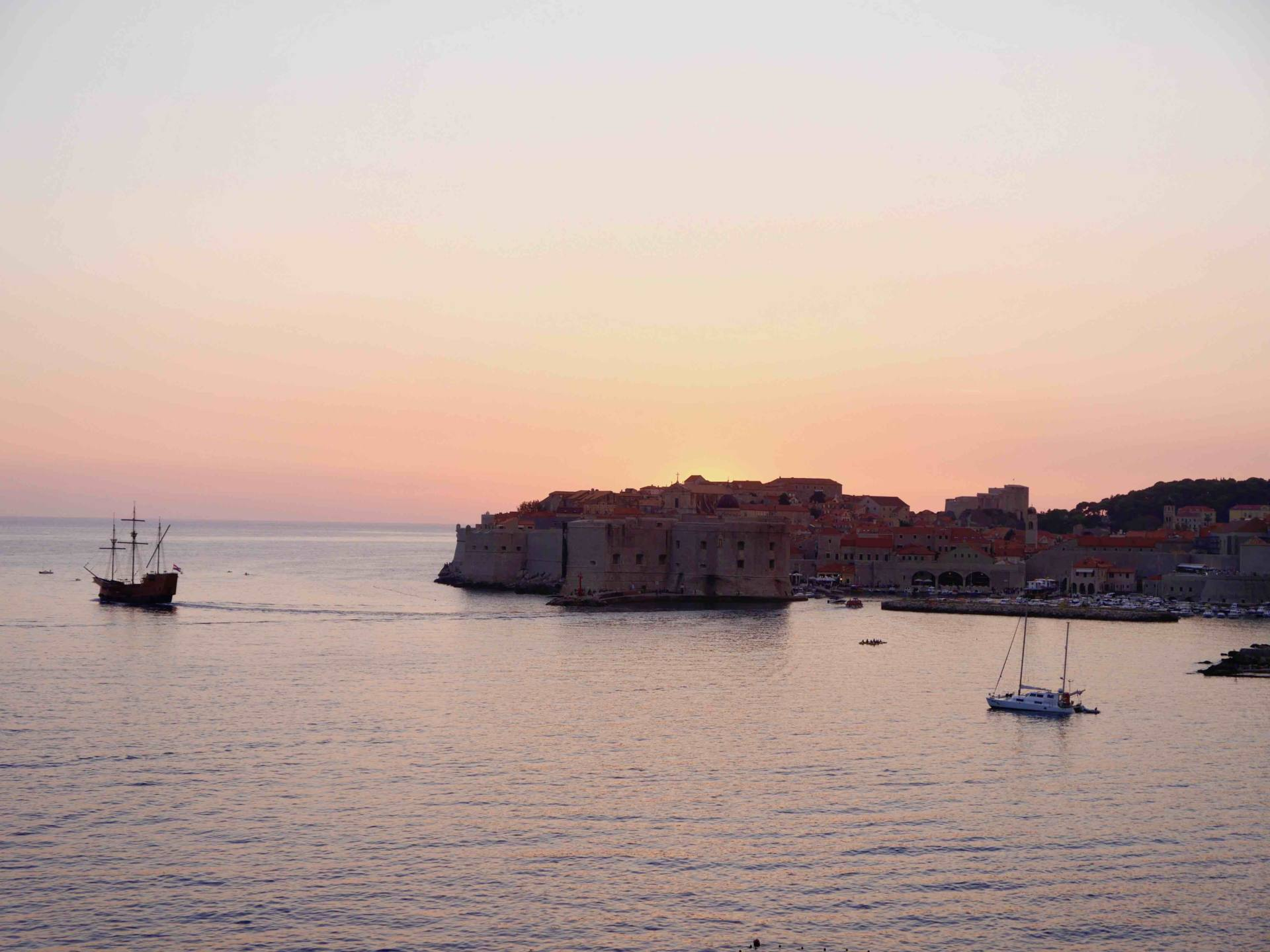 Sunset over Old Town | Babymoon in Dubrovnik