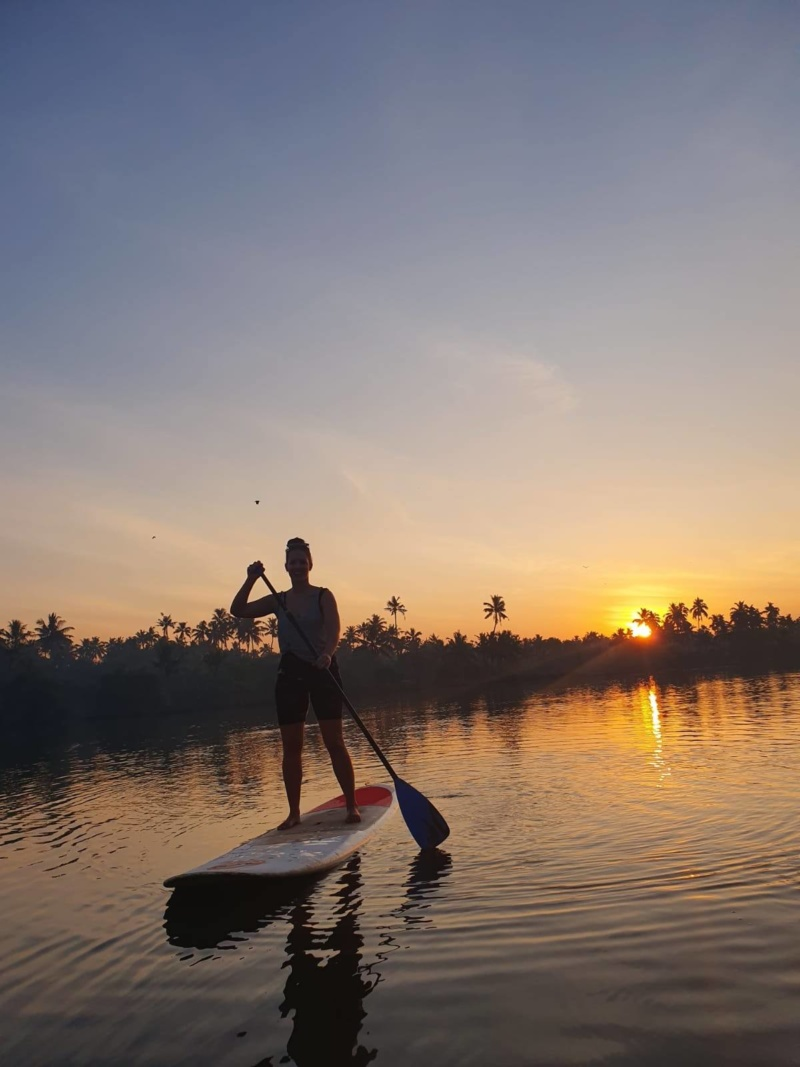 Sunset SUP boarding Kerala