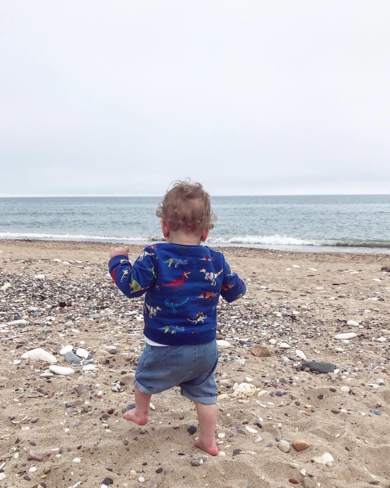 Toddler on Bridlington North Beach