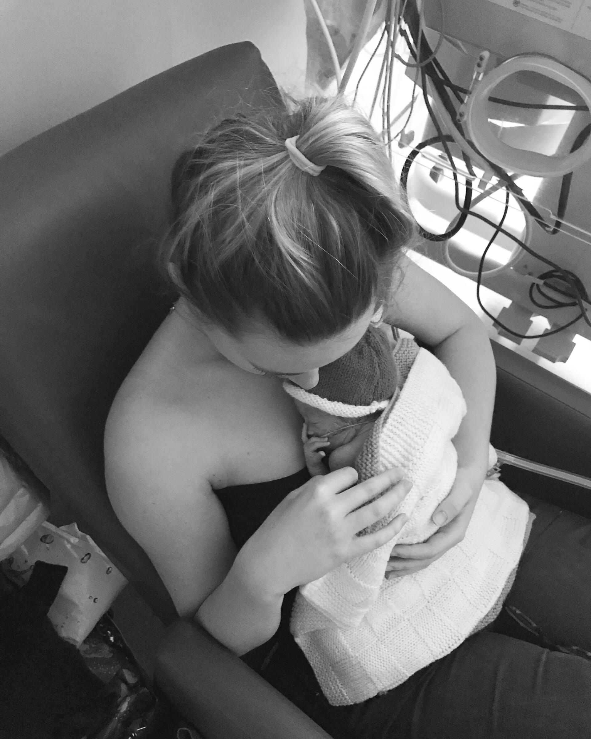 Mum of a Premature Baby Kangaroo Care