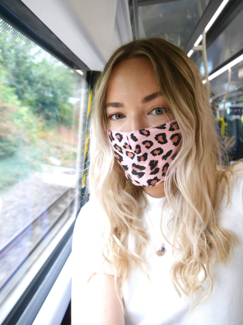 Train travel with a mask | girl wearing mask