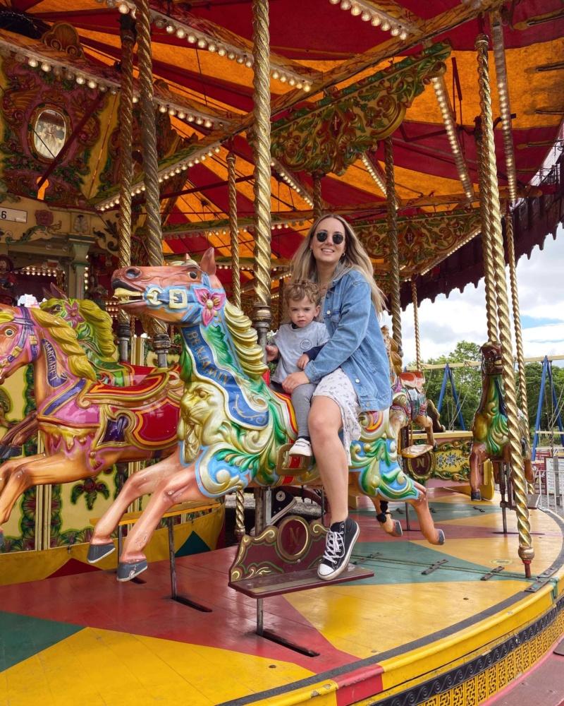 Beamish Museum fairground merry go round